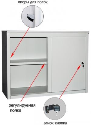 Шкаф-купе металлический ALS 8815 купить на выгодных условиях в Волгограде