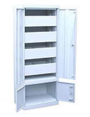 Шкаф металлический картотечный ШК-4-Д4 купить на выгодных условиях в Волгограде