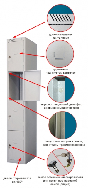 Шкаф металлический для сумок ШРС-14дс-300 купить на выгодных условиях в Волгограде